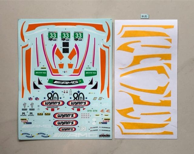 SK Decal 1/24 メルセデス AMG GT3 IMSA 2019 No.33 フルスポンサーデカール (タミヤ対応) SK24097