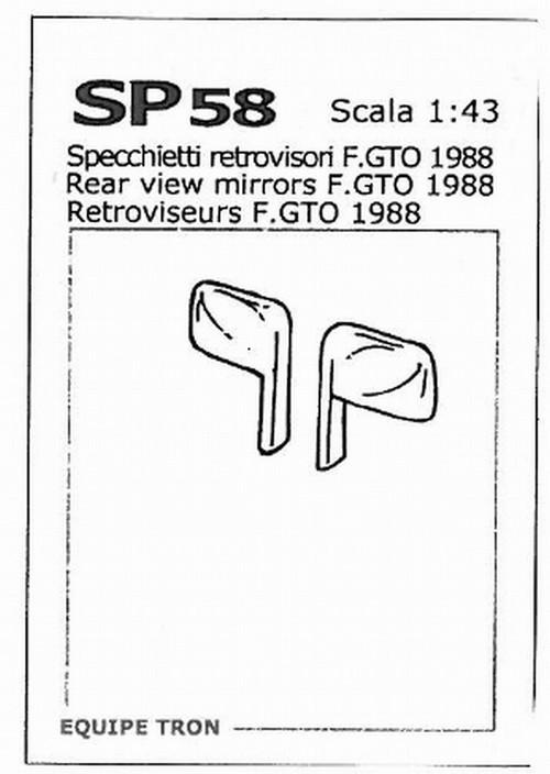 トロン 1/43 ミラーパーツ フェラーリ GTO 他対応 左右各4個入り sp58