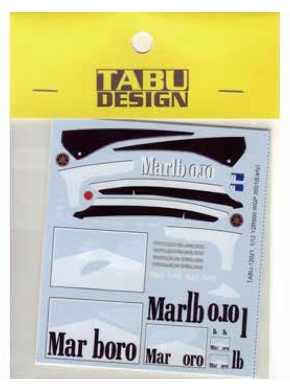 タブデザイン 1/12 ヤマハ YZR500 WGP 2001 前期型 マルボロデカール (タミヤ対応) TABU-12021