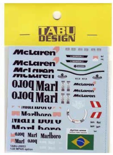 タブデザイン 1/20 マクラーレン MP4/6 マルボロデカール (フジミ対応) TABU-20053