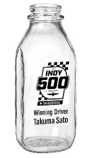 [予約] 佐藤琢磨 2020 インディ500 優勝記念 牛乳ボトル ディスプレイ用 TS2020MB
