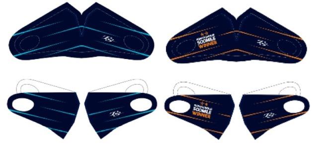 [予約] 佐藤琢磨 インディ500優勝 記念デザインフェイスマスク メンズフリーサイズ 2枚セット TS-W2014F