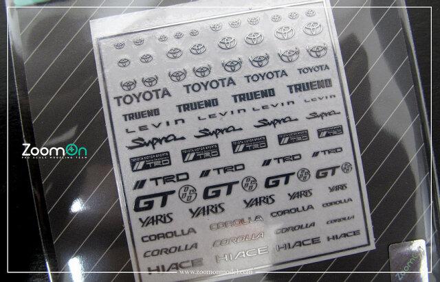 [予約] ZoomOn 1/24 1/43 1/64 トヨタ タイプA メタルロゴステッカー ZD026