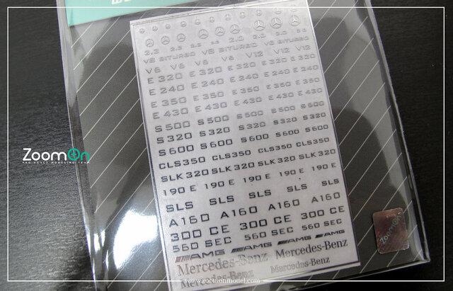 [予約] ZoomOn 1/24 1/43 1/64 メルセデスベンツ メタルロゴステッカー ZD027