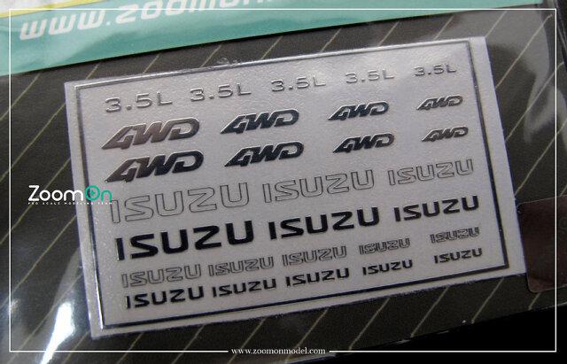 [予約] ZoomOn 1/24 1/43 1/64 イスズ メタルロゴステッカー ZD037