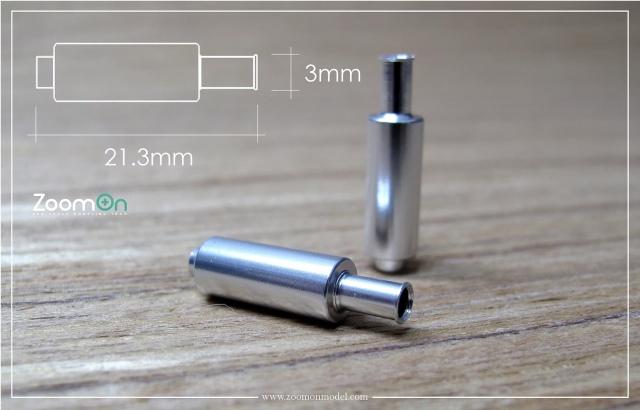 ZoomOn 1/24 スプーン N1 エキゾーストパイプ Mサイズ 全長21.3mm 2本入り ZT019