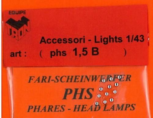 トロン ライトレンズ クリアー 丸形 1,5mm 12個入り phs01_5B