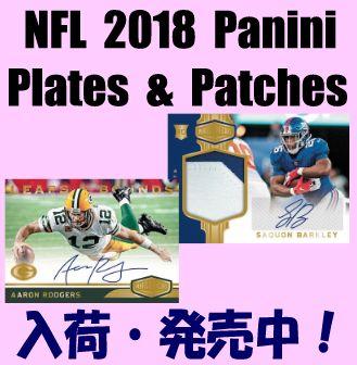 NFL 2018 Panini Plates & Patches Football Box