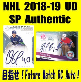 NHL 2018-19 Upper Deck SP Authentic Hockey Box