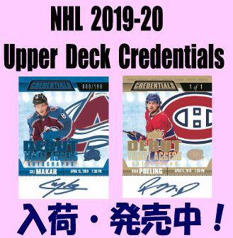 NHL 2019-20 Upeer Deck Credentials Hockey Box
