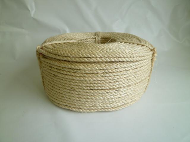 特注サイザル麻ロープ(白色) 直径6mm(200メートル巻き) 20巻特価