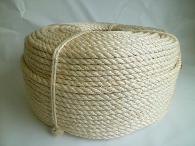 サイザル麻ロープ(白色) 直径8mm(200メートル巻き)