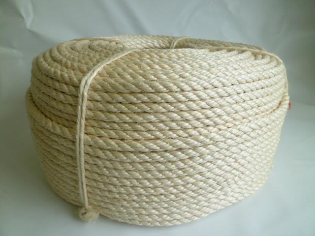サイザル麻ロープ(白色) 直径9mm(200メートル巻き)