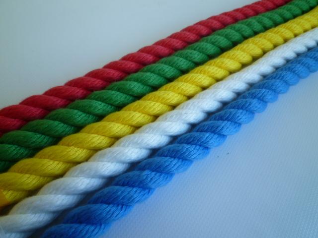 親綱ロープ 介錯ロープ ポリエステルカラーロープ16mm 片端大径フック