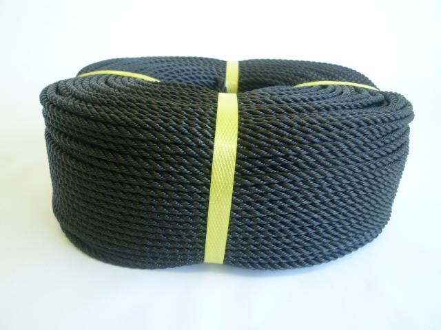 ポリエチレンロープ 黒色 直径4mm(200メートル巻き)
