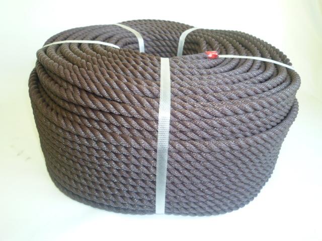 ポリエチレンロープ ブラウン色 直径10mm(200メートル巻き)