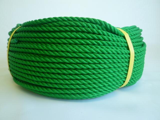 ポリエチレンロープ グリーン色 直径4mm(200メートル巻き)