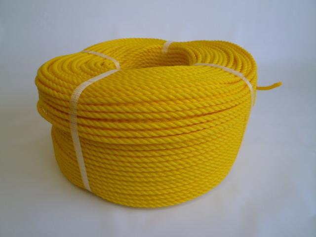 ポリエチレンロープ 黄色 直径4mm(200メートル巻き)