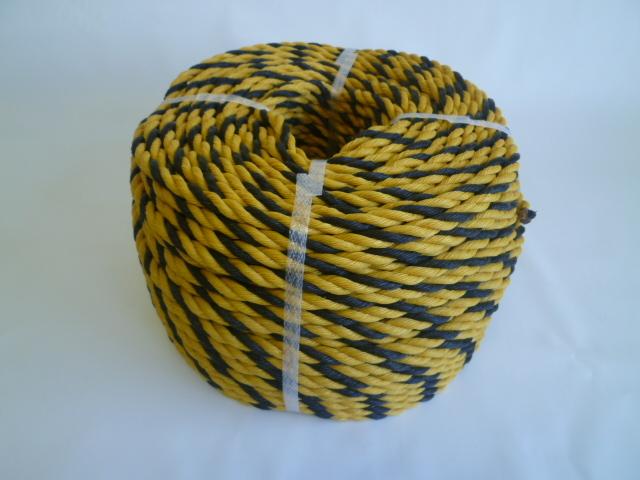 標識(トラ)ロープ 黄/黒 #6 (200メートル巻き)