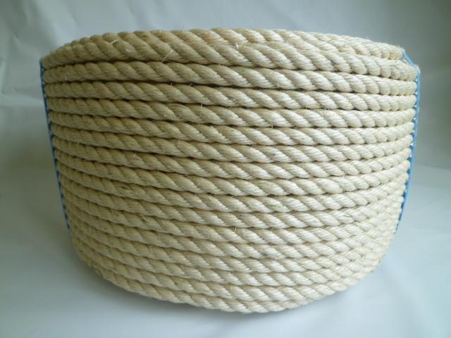 サイザル麻ロープ(白色) 直径12mm(200メートル巻き)