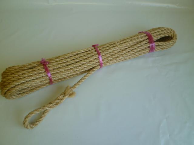 麻(染めサイザル)ロープ 直径9mm×10m 両端サツマ加工
