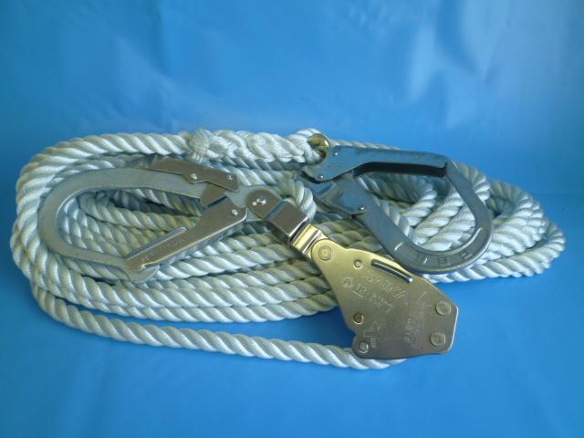 親綱ロープ ナイロンロープ 16mm×10m 緊張器付