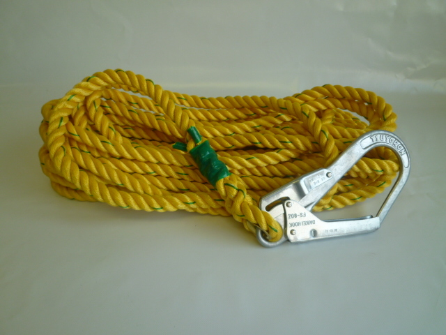 親綱ロープ ポリエステルロープ 黄 16mm (切売り品)  メートル単位