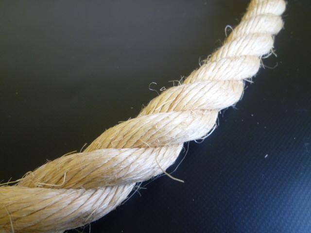 麻ロープ(染サイザル) 直径22mm(切り売り品)メートル単位 最大199mまで