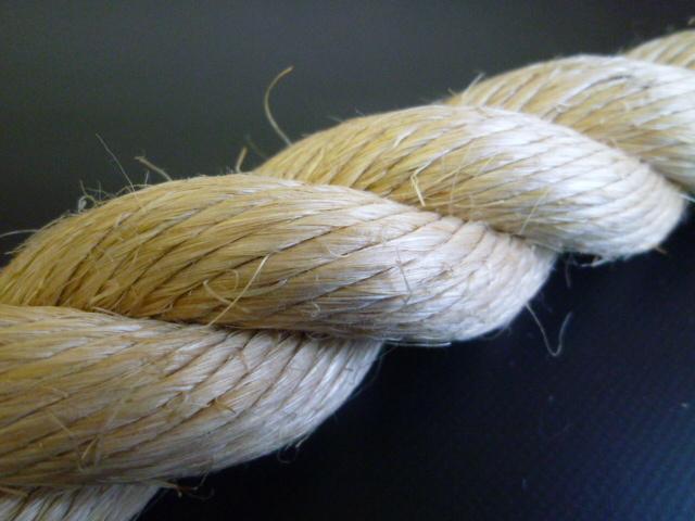 麻ロープ(染サイザル) 直径45mm(切り売り品)メートル単位 最大99mまで
