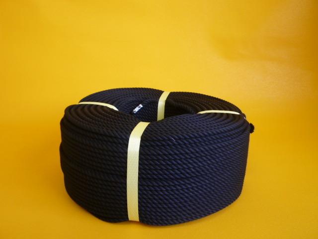 クレモナロープ 黒色 直径4mm(100メートル巻)