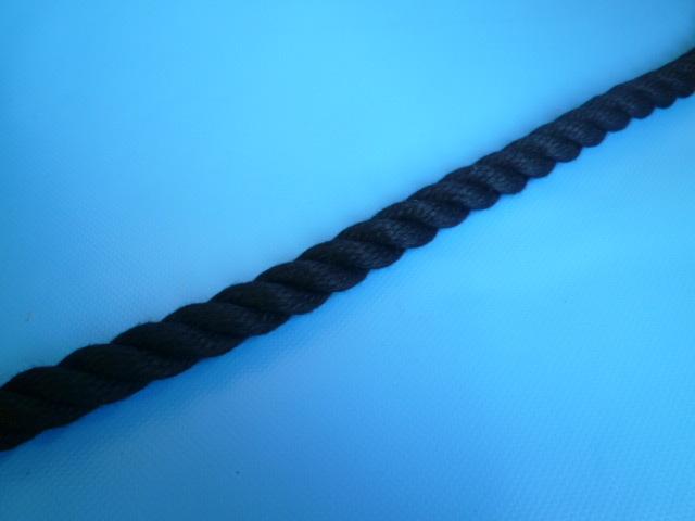 クレモナロープ 黒色 直径9mm(切り売り品)メートル単位 最大100mまで
