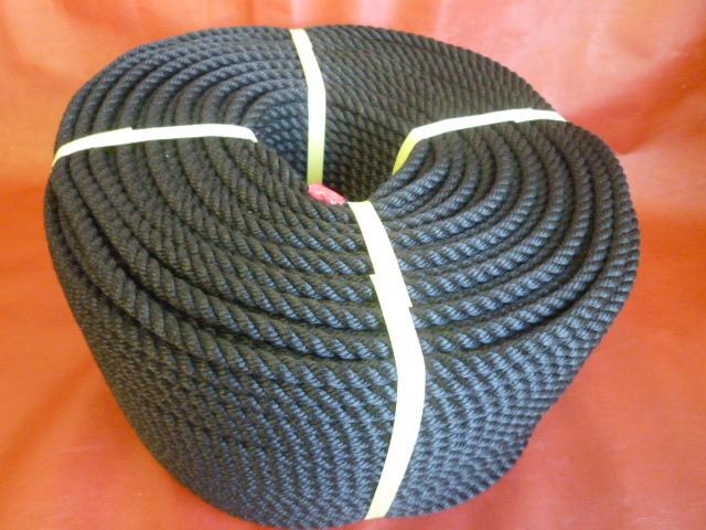 PPスパンロープ 黒色 直径12mm(200メートル巻き)
