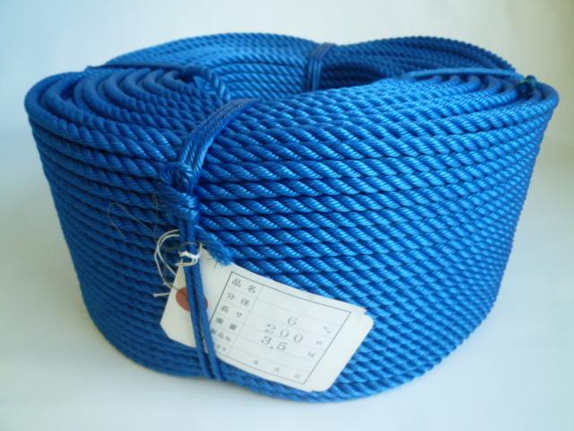 ポリエチレンロープ 青色 直径6mm(200メートル巻き)