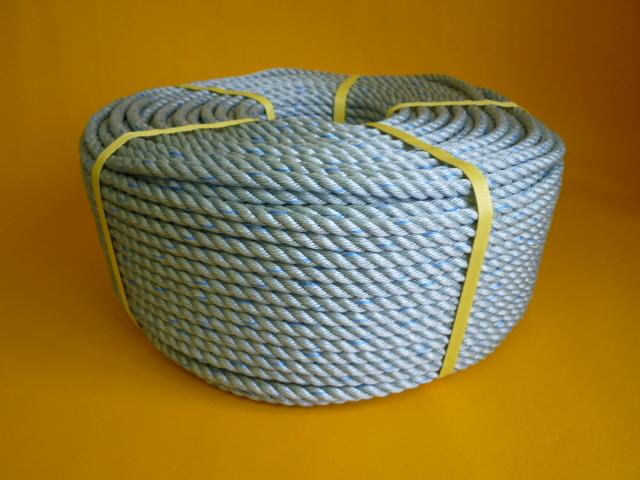 ダイヤスーパーPPロープ GG色青線入り 直径8mm(200メートル巻き)