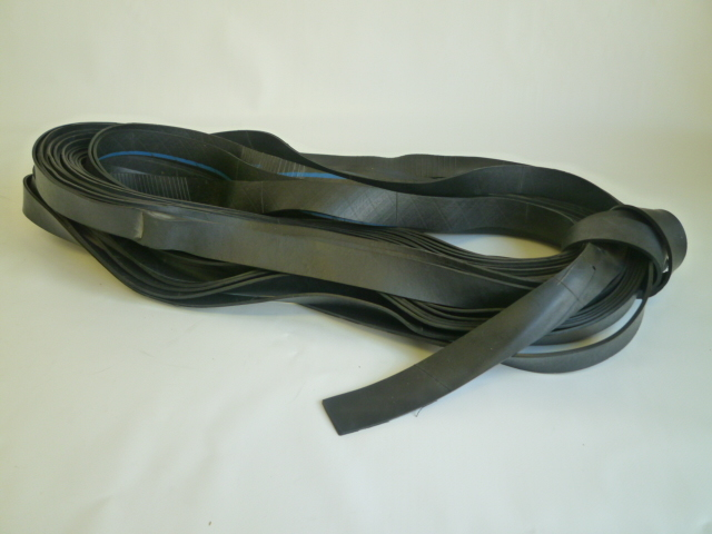 ゴムロープ 平タイプ 30mm巾×15m 国産チューブ品
