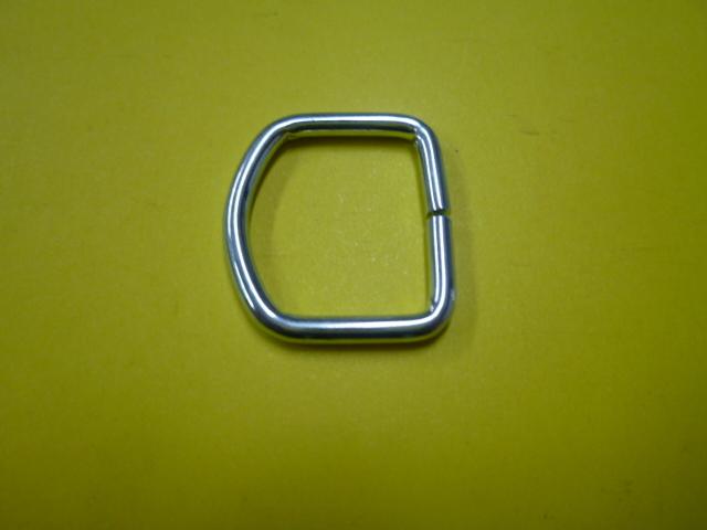 ゴムロープ用金具 18~21mm平ゴム用 D環
