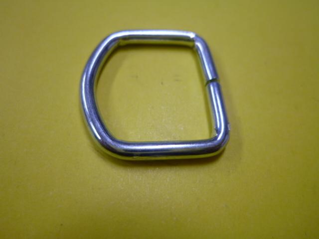 ゴムロープ用金具 30mm平ゴム用 D環