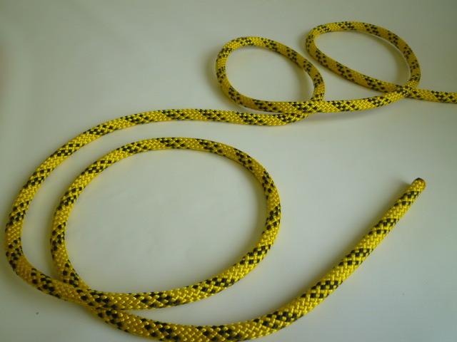 エステルWブレード32打ちロープ 直径12mm 黄色ベース(切り売り品)メートル単位 最大200mまで
