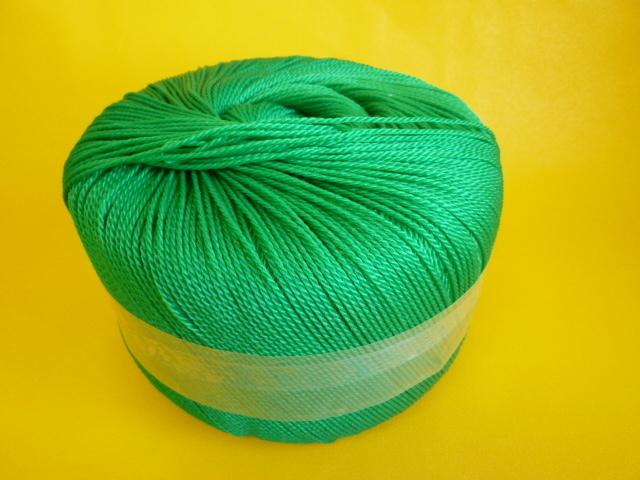 ポリエチレンロープ グリーン色 直径2mm(トワイン巻き)