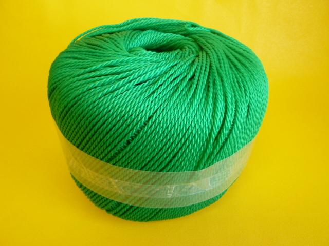 ポリエチレンロープ グリーン色 直径3mm(トワイン巻き)