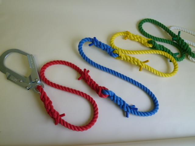 介錯ロープ12mm カラー2色~5色オーダータイプ