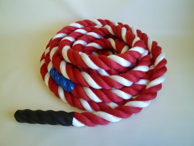 綱引きロープ紅白ロープ  直径24mm×7m