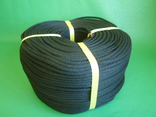金剛打ちロープ(混紡糸) 黒色 直径3mm(300メートル巻き)