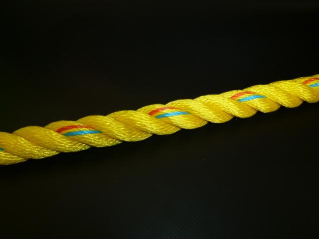 ニューテトロンロープ黄色 直径16mm(切り売り品)メートル単位 最大100メートル