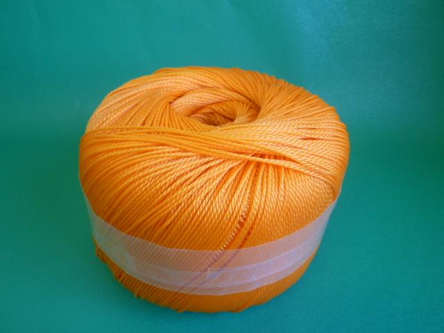 ポリエチレンロープ オレンジ色 直径2mm(トワイン巻き)