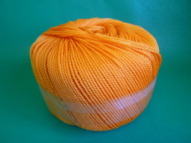 ポリエチレンロープ オレンジ色 直径3mm(トワイン巻き)