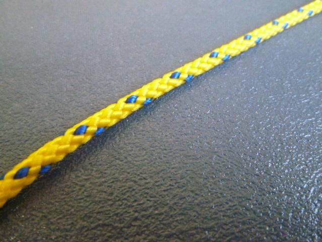 PPマルチコード 黄 直径3mm(切り売り品)メートル単位 最大200mまで