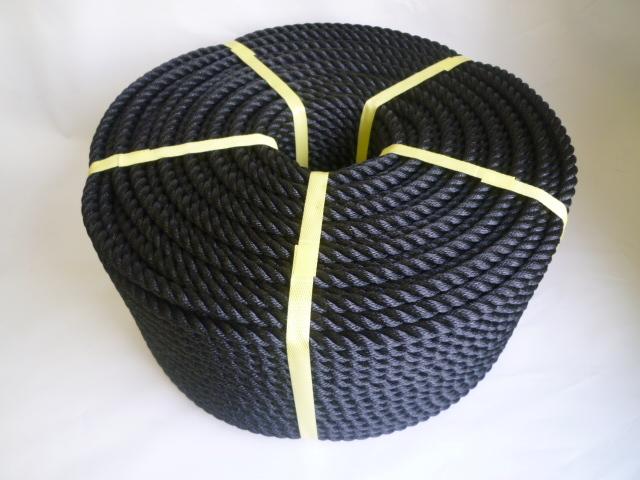 ポリエチレンロープ 黒色 直径12mm(200メートル巻き)