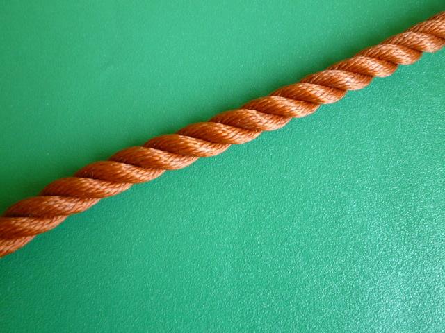 ポリロープ 金茶色 直径14mm(切り売り品)メートル単位  取寄品(納期都度確認)