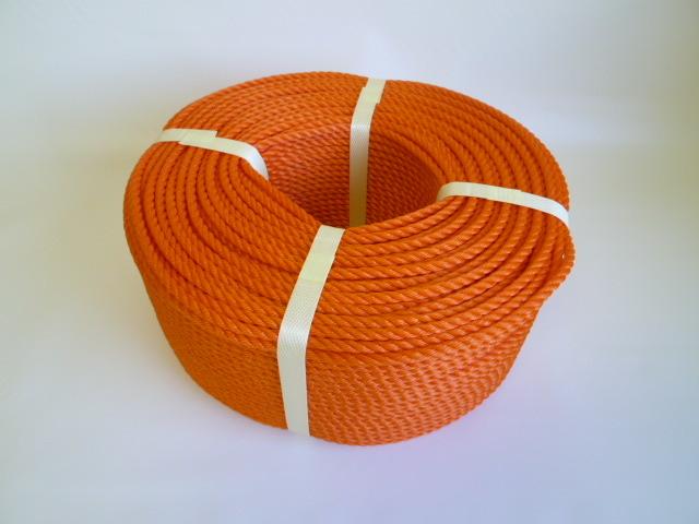 ポリエチレンロープ オレンジ色 直径6mm(200メートル巻き)